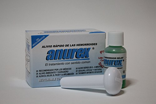 Anurex - Hemorrhoid Relief Clinicall results 95 %effective First Reg. with FDA Aug. 1986 Patented Since 1986
