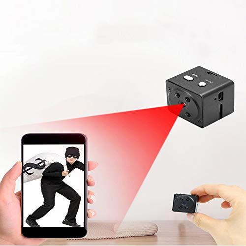 Mini cámara espía 1080P cámara oculta, cámara portátil para niñera con visión nocturna y detección de movimiento, pequeña grabadora de vídeo para interiores y exteriores