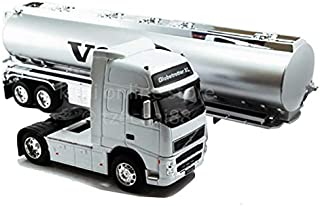 Welly 1:32 Die-cast Volvo FH12 Oil Tanker Truck Silver Model with Box Collection Christmas New Gift