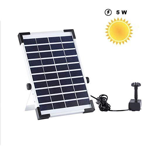 Erlliyeu 5W Solar Springbrunnen,Solar Teichpumpe mit 6 Effekte, Solar Springbrunnen 2020 Upgrade, Solar schwimmender Fontäne Pumpe für Gartenteich Oder Fisch-Behälter Springbrunnen Vogel-Bad