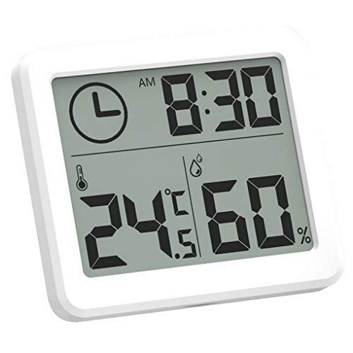 ACMEDE Hygrometre,Thermometre,Grand éCran LCD LCD Multifonctionnel De l'horloge éLectronique 3.2inch,Station Meteo Digital Thermometre