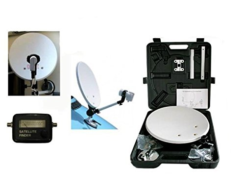 Megasat Kit Parabola Portatile + MISURATORE di Campo SAT Finder,Camper Caravan