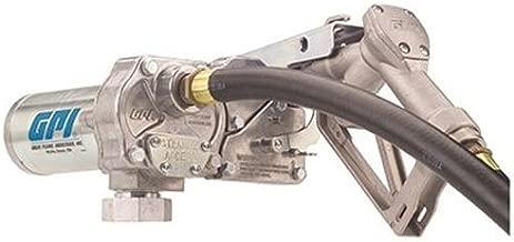 GPI 110000-99, M-150S-MU Fuel Transfer Pump, 15 GPM, 12-VDC, Manual Nozzle, 12' Hose, 18' Power Cord