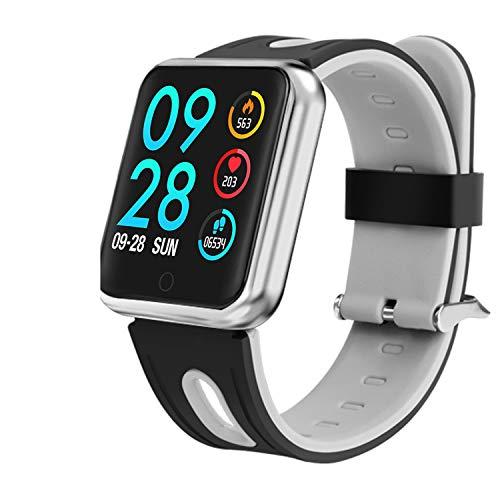 Bluetooth Smartwatch, Fitness Uhr Intelligente Armbanduhr Fitness Tracker Smart Watch Sport Uhr mit Kamera Schrittzähler Schlaftracker Romte Capture Kompatibel mit Android Smartphone (P68 Silber)