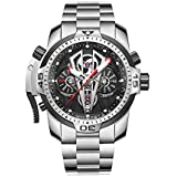 Reef Tiger Top Brand Sport Automatic Stainless Steel Men Muti-Functional Mechanical Watches RGA3591 (RGA3591-YBY)