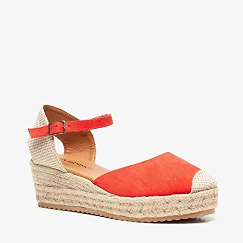 Blue Box dames sleehak espadrilles - Oranje