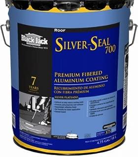 GARDNER-GIBSON 5177-A-30 Black Jack Silver-Seal 700 Fibered Aluminum Coating, 4.75 Gal.
