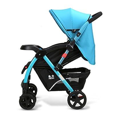 MMM @ Baby Trolley Alto Paisaje Se Puede Acostar Ultra-Ligero Portátil Plegable 1-3 años de Edad Niño Bebé Ampliado Alargado Dos vías Carrito de bebé Paraguas de Acero Inoxidable Carro Trolley Oxford