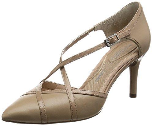 Rockport TM75MMPTH Cross, Zapatos de tacón con Punta Cerrada para Mujer, Beige...