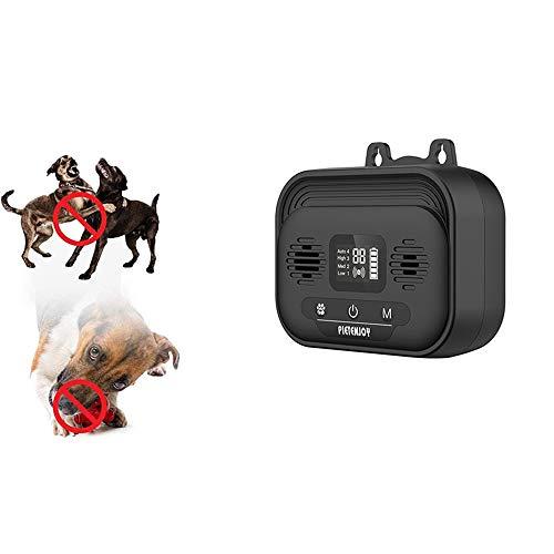 Linghuang - Mini LED ultrasónico, repelente y entrenador, dispositivo antiladridos, para perros de talla grande, mediano y pequeño