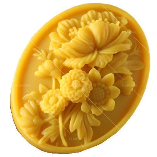 Flower Silicone Molds Handcraft Soap Candle Wax Melt Mould Baking 3D Oval Shape Flower Silicone Mousse Cake Chocolate Mold