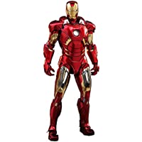 Figura Iron Man Mark VII 32 cm. Los Vengadores. Escala 1:6. Diecast Movie Masterpiece. Con luz. Hot Toys