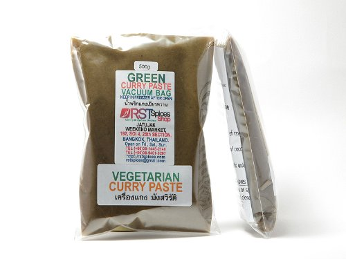 RSTSpices タイ ベジタリアン グリーンカレーペースト500g 真空パック[vegetarian green curry paste]
