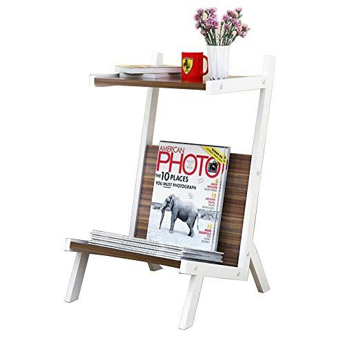 Table pliante Chunlan Sofa de Fer atterrissant Creative Magazine Porte-revues étagère Multifonction Table de Chevet (Couleur : A)