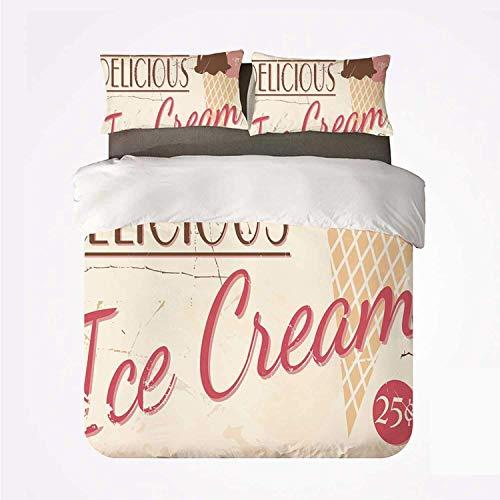 Miwaimao Bedding Bettwäsche-Set,Ice Cream Decor Verschiedene Probieren Sie unsere...