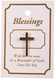 Spilla da giacca a forma di croce cristiana