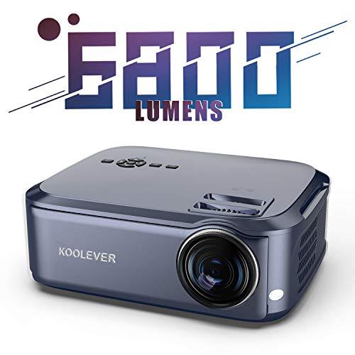 Beamer Full HD Projektor Nativer 1080p LCD LED Videoprojektor 78000 Stunden für Heimkino Powerpoint-Präsentationen Kompatibel mit HDMI / VGA / Y.PB.Pr/AV/USB