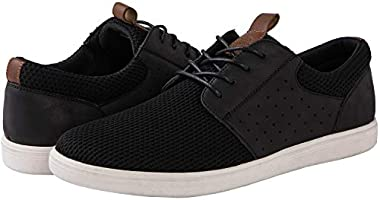 GLOBALWIN Men's Lace Up Fashion Sneakers 4 Eyelets Casual Shoes for Men