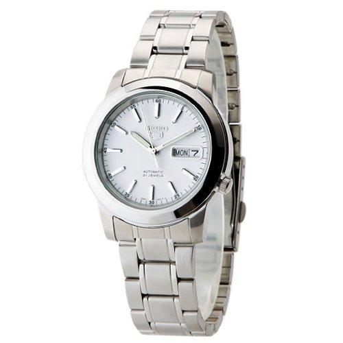 Seiko Herren Analog Automatik Uhr mit Edelstahl Armband SNKE49K1