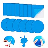 Gukasxi Parche de reparación de vinilo autoadhesivo de PVC, 30 piezas de vinilo revestimiento de piscina, reparación de barcos, gomas de vinilo para barcos inflables balsa kayak canoa piscinas