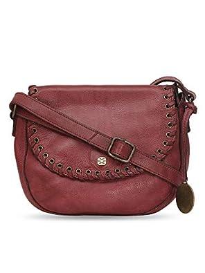 KOMPANERO Women's Sling Bag (B-9414-RED_Red)