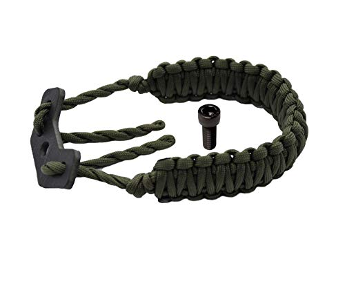 HZUTUZH 250 Paracord Bow Archery Wrist Sling - Multi Functional Survival Compound Bow Wrist Sling for Hunting & Shooting - No Stabilizer Needed - Successive Length 20 Feet (Green)