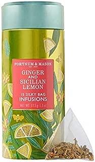 Fortnum & Mason British Tea, Ginger & Sicilian Lemon Infusion Tin, 15 Silky Tea bags (1 Pack) NEW Product ID48SD - USA Stock