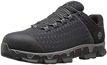 Timberland PRO Men's Powertrain Sport Alloy Safety Toe Electrical Hazard Athletic Work Shoe, Black Synthetic, 10.5 Wide