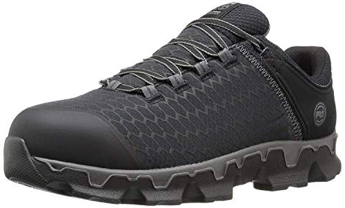 Timberland PRO Men's Powertrain Sport Alloy Toe EH Industrial & Construction Shoe, Black Synthetic, 12 W US