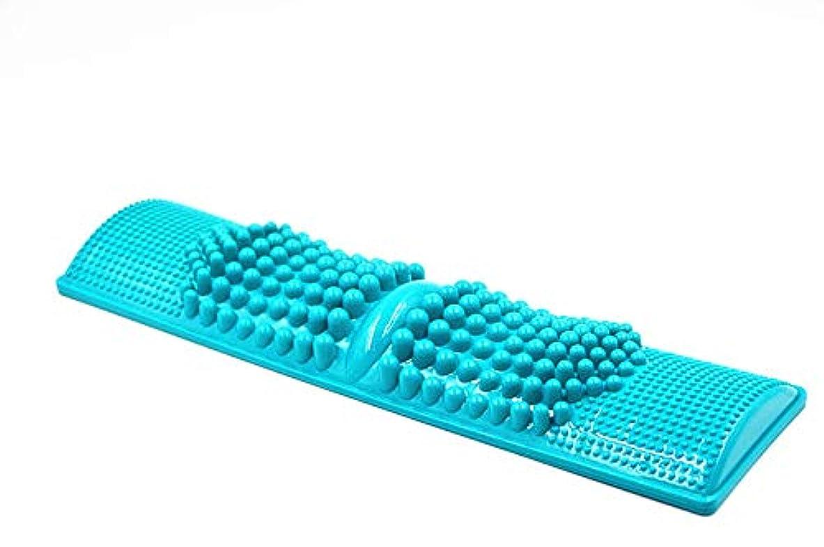 家族健康隊 足つぼ マッサージ 血行促進 お風呂上りの1分で 健康維持 【足つぼ対応表付き】丸洗い可能で衛生的 カラー グリーン ブルー パープル (ブルー)