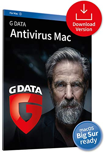 G DATA Antivirus Mac 2020, 1 Gerät - 1 Jahr, Download, Aktivierungscode per Email, Mac, iMac, Macbook Pro - Catalina / Mojave / High Sierra