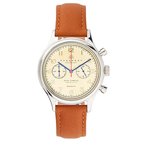 Huguenot Horology Legacy - Reloj de vestir analógico de cuarzo de 38 mm