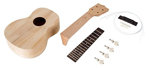 Classic Cantabile US-210 Sopran Ukulele Bausatz (Do-it-Yourself, DIY, Lindenholz, Uke selbst bauen)