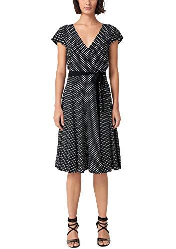 s.Oliver BLACK LABEL Damen Kleid mit Cache Coeur-Ausschnitt Nairobi Black arro 40