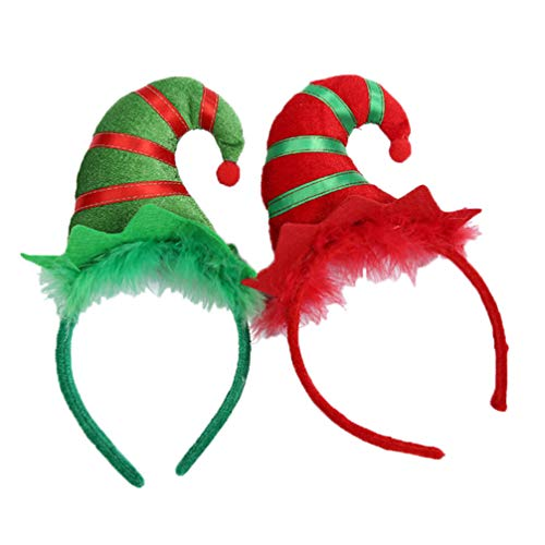 Amosfun 2 Pezzi Di Fasce Per Cappello Da Elfo Di Natale Accessori Per Capelli Per Fascia Da Elfo Per Feste Di Festa Per Bambini Per Adulti Forniture Per Feste Di Natale Per Bambini
