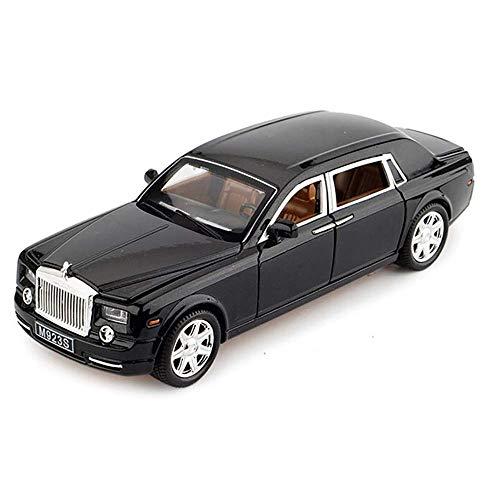 OD.zepp 01.24 Rolls-Royce Phantom-Auto-model, Alloy Diecast Car Collection Light & Sound meerdere deuren geopend autospeelgoed voor kinderen en kinderen, zwart