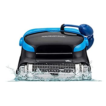 Dolphin Nautilus CC Plus Robotic Pool [Vacuum] Cleaner - Ideal for In Ground Swimming Pools up to 50 Feet - Powerful Suction to Pick up Small Debris - Easy to Clean Top Load Filter Cartridges