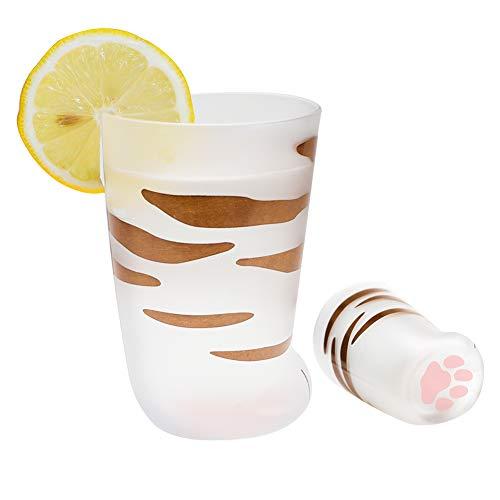 Katzenkrallen-Tasse mit Katzenpfoten-Motiv, Milchglas-Tassen, Persönlichkeit, Frühstück, Milchbecher, niedlicher Katzen-Fuß-Klauen-Druck, Tasse für Männer und Frauen, für Paare