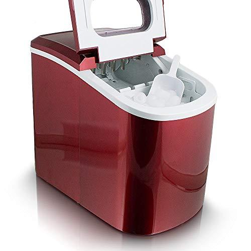 Eiswürfelmaschine Eiswürfelbereiter Eiswürfel Ice Maker EIS Maschine (Rot)