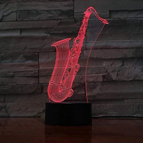 QAQ Sterrenhemel 3D Nachtlampjes voor Kinderen Saxofoon Nachtlampje Speelgoed voor Jongen 7 LED Kleuren Veranderende Verlichting Tafel Bureau Slaapkamer Decoratie Speelgoed Geschenken