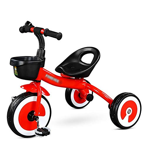 HongTeng Triciclo for Bambini Bicicletta Triciclo for Bambini 2-5 Anni Giocattolo for Bimbo Triciclo for Bambini (Color : Red)
