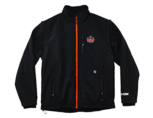 of boys bowling jackets Ergodyne N-Ferno 6490 Heated Replacement Jacket with Removable Sleeves, Jacket Only, X-Large
