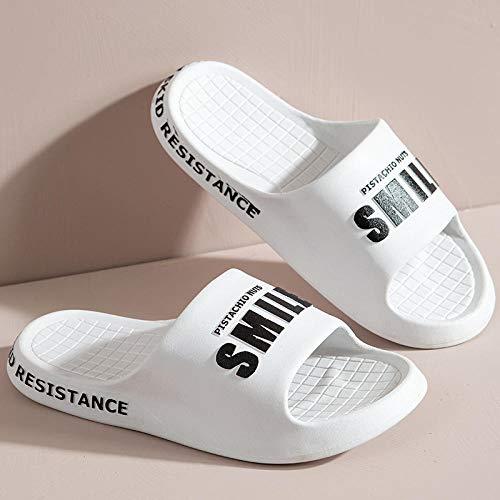 HUSHUI Suela De Espuma Suave Zapatos De Piscina,Zapatillas de Playa Casual, Sandalias de Interior y Exterior-White_36 / 37,Zapatillas de Piscina Antideslizantes Unisex