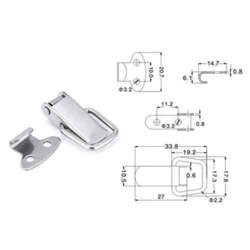 Ladieshow Hasp Lock Fastener Kitchen Furniture Toggle Latch Catch Hardware Parts 10Pcs(Stainless Steel 201)