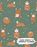 2020 Weekly & Monthly Planner: Funny Exercise Yoga Guinea Pig Calendar & Journal