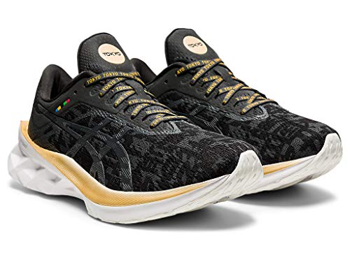 ASICS Novablast Zapatillas de correr para mujer, Negro (Negro / gris grafito), 41 EU