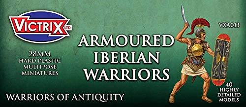 Victrix VXA013 - Antiguos Guerreros Armados Ibéricos - Conjunto De 40 Figuras - Miniaturas De Plástico De 28 mm - Guerrero De La Antigüedad