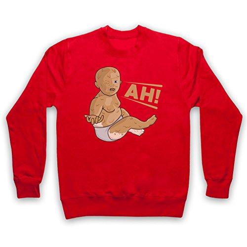 My Icon Art & Clothing Peanut Butter Baby Erwachsenen Sweatshirt, Rot, Medium