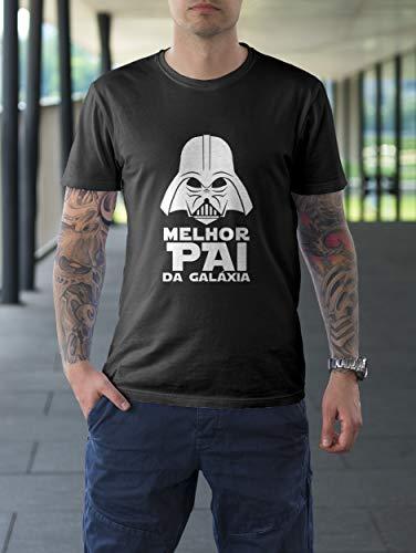 Camiseta Camisa Melhor Pai Dia dos Pais Masculino Preto Tamanho:GG
