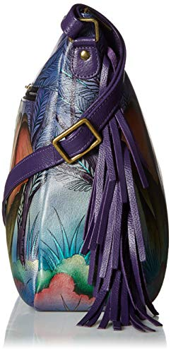 Fashion Shopping Anna by Anuschka Women's Genuine Leather Large Hobo Shoulder Bag   Hand Painted
